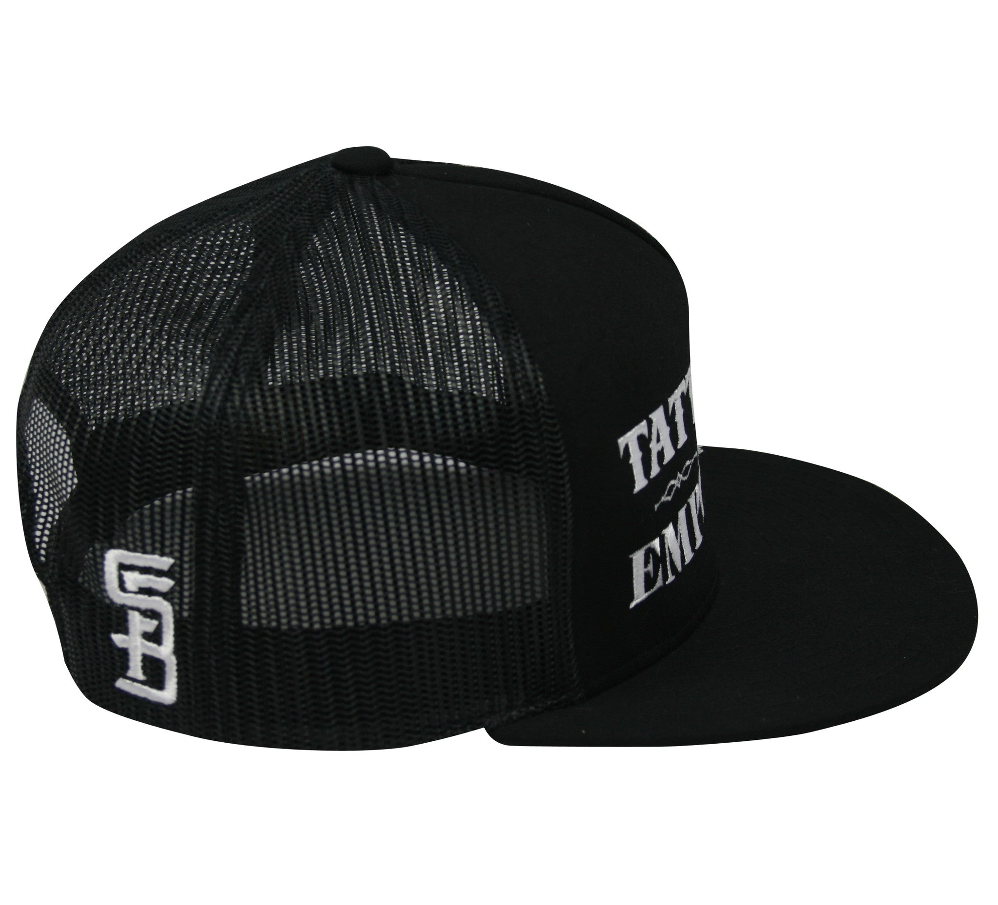 793c60bf95f53 Tattooed and Employed Snapback Trucker Hat (black) - Steadfast Brand
