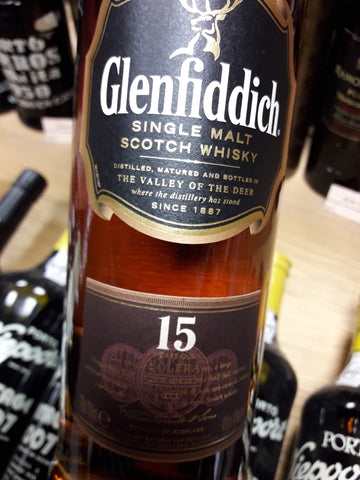 Whisky Glenfiddich 15 Anos Single Malt