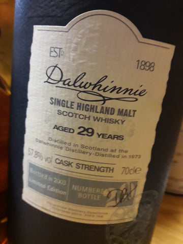 Whisky Dalwhinnie 29 Anos