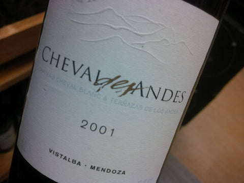 Cheval des Andes Argentina Tinto 2001