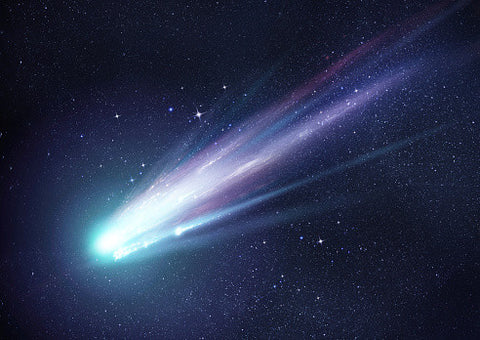 Comet in the night sky