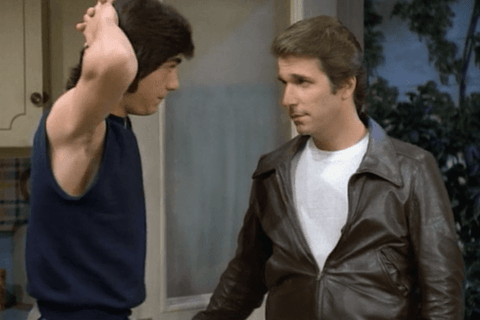 Fonz and Chachi, man to man.