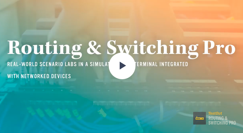 TestOut Routing and Switching Pro Demo