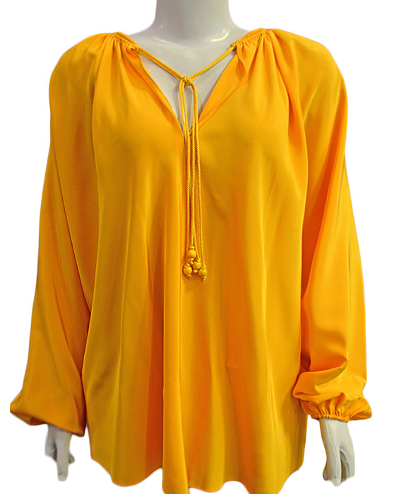 Chance L/s Top W/ Rope - SAFFRON