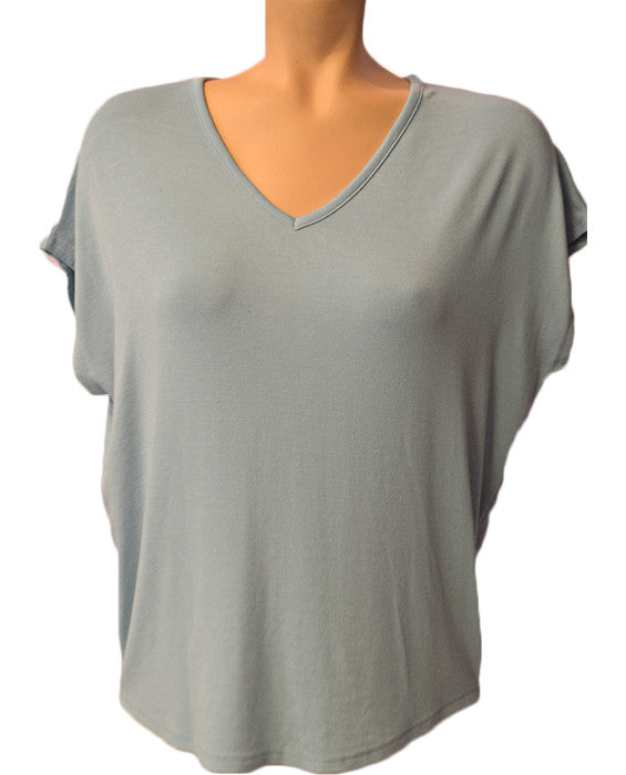 Luxe Cacoon V-Neck- STREAM