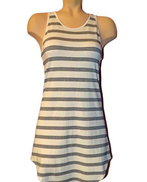 Striped Roby Dress NAVYWHT - NAVYWHT
