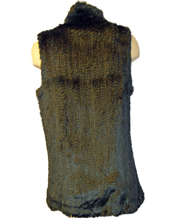 Long Shawl Vest- BLACK