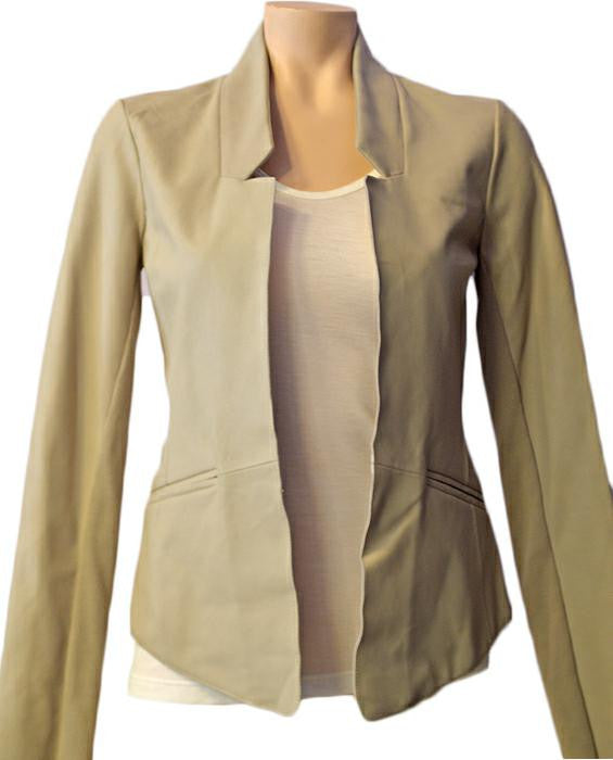 Ranya Leather Jkt - SAND