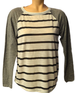 L/S Char Stripe - WHITE