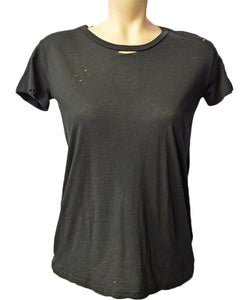 Distressed Tee - BLACK
