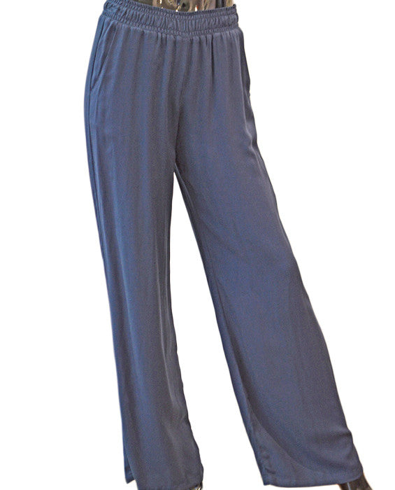 Rayon Twill Pants - NAVY