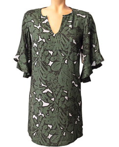 Jungle Floral Dress - HUNTER