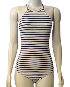 Venice Stripe Bodysui WHITE