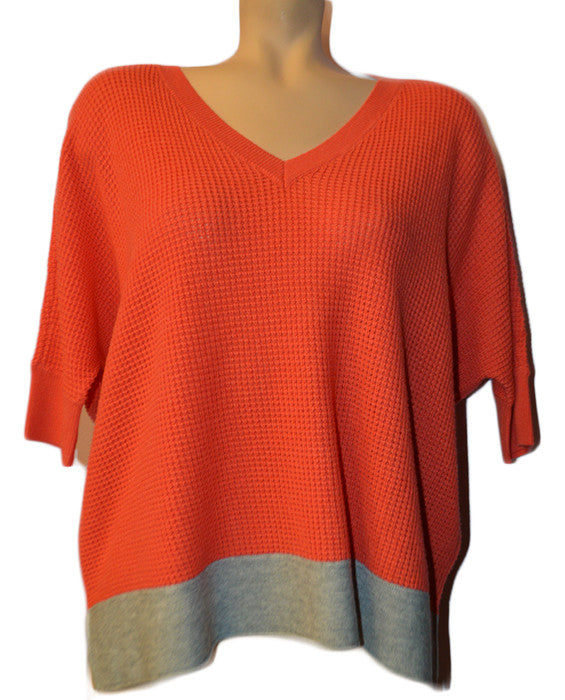 Cruz Colorblock Sweat - CORAL