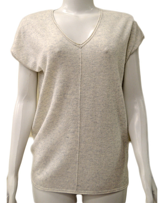 Rolled Edge V Neck - HCLOUD