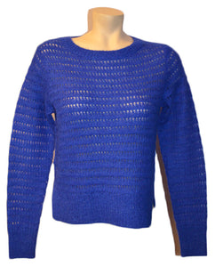 Brushed Pointel Sweater- ELECBLUE