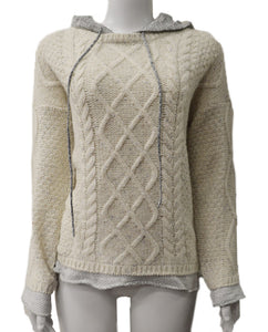 Cable Knit Fre - CREAM