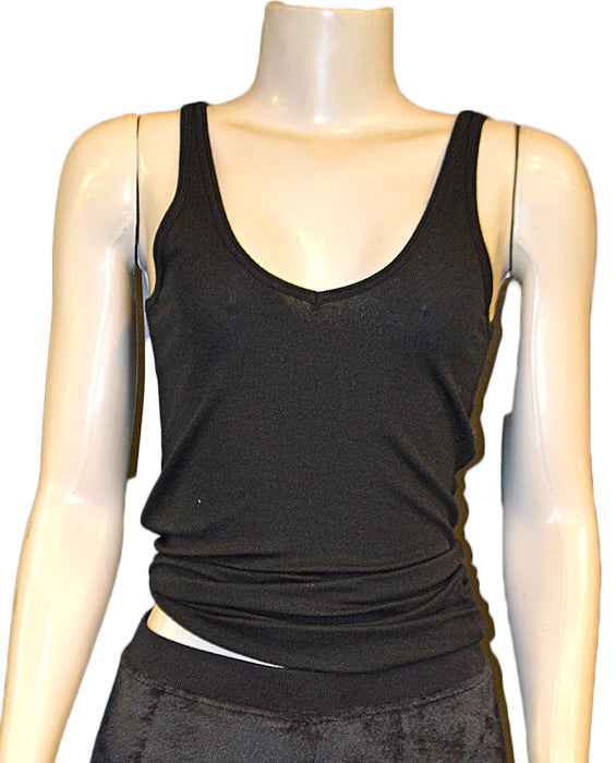 Deep Vee Tank - BLACK
