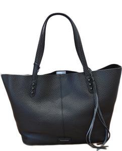 Unlined Tote- BLACK