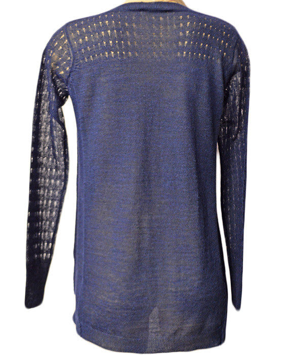 Varied Mesh Pullover- CRUSHEDI