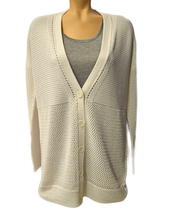 Marled Cardigan - OPWHT