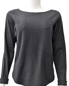 Crop Boatneck - BLACK