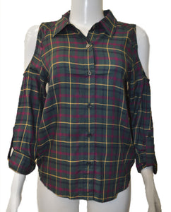 Cold Shoulder - PLAID