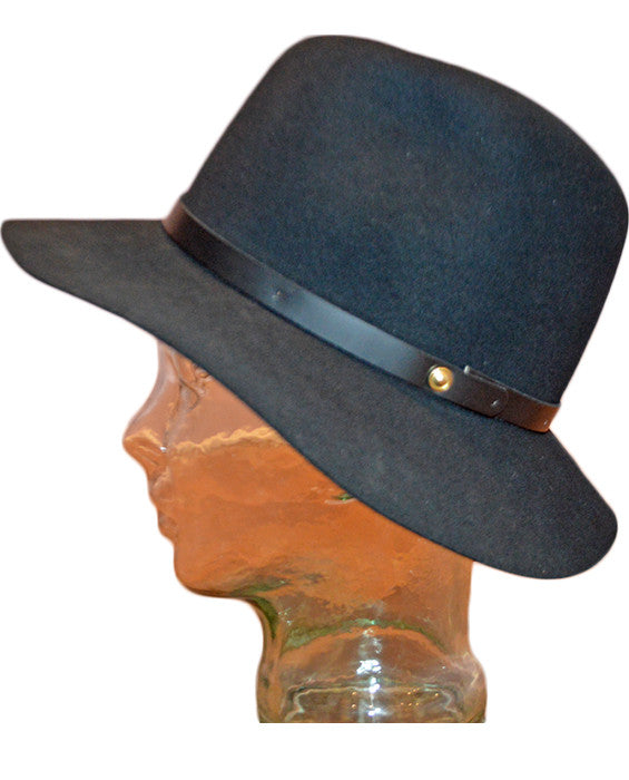 Floppy Brim Fedora BLACK