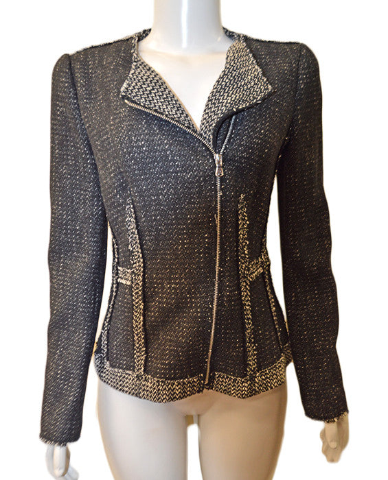 Structured Tweed Blazer - BLKCOM