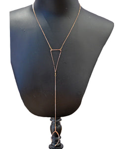 Triangle Drop Necklace- ROSE