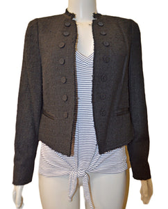 Boucle Tweed Jacket - BLACK