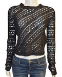 Crochet Crewneck - BLACK