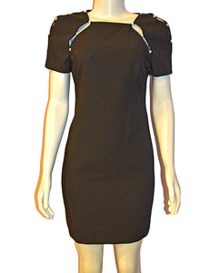 Kristiana Fitted Dress BLACK