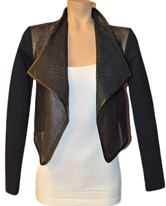 Ember Cropped Jacket - BLACK