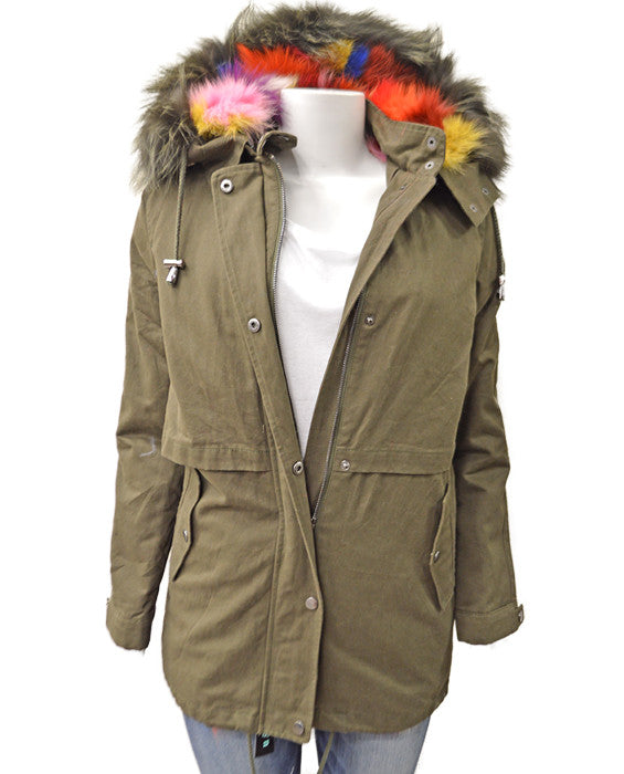 Cargo Fox Lined Coat - MULTI