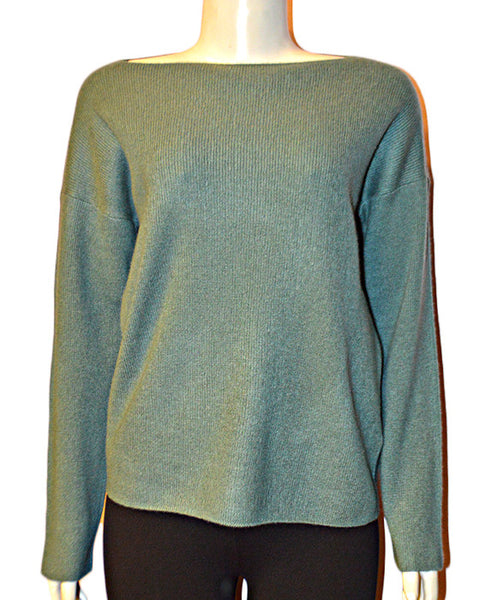 Boxy Boatneck Pullover SEAGLASS
