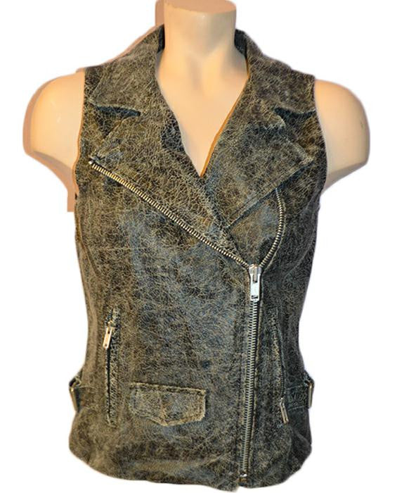 Crackle Moto Vest- BLACK