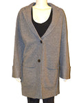 Merino Boiled Wool Car Coa - GREY