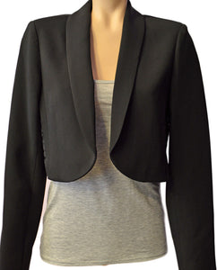 Ref Suiting Crop - BLACK