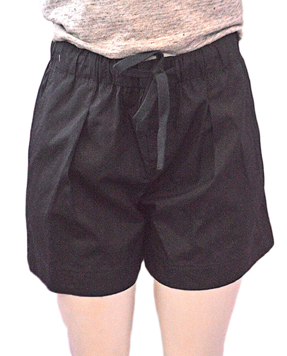 Pleat Front Shorts Black