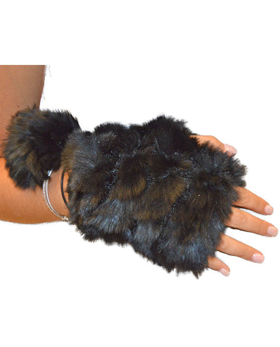 Rabbit Mittens - BLACK