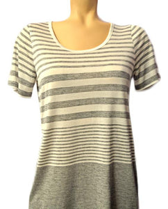 Varigated Striped Tee - WHTSLATE