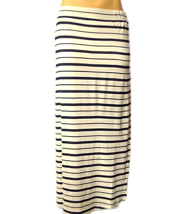 Variegated Skirt - NAVYWHT