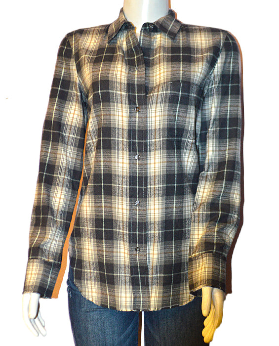 Tartan Plaid Button Down BLKCRM