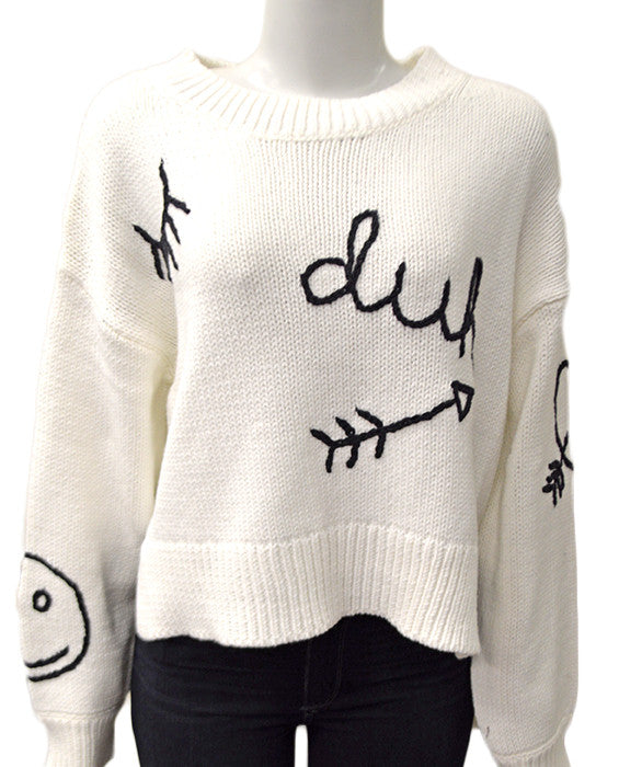 Duh Sweater WHITE