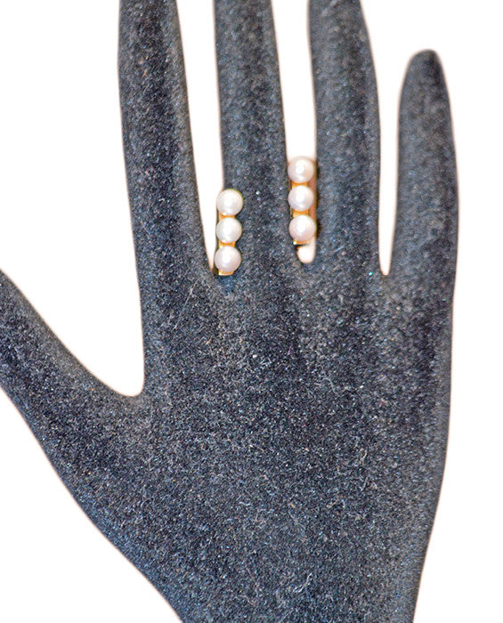 Lia Double Pearl Ring- GOLD