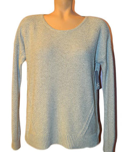 Marled Stitch Sweater - HTHGREY