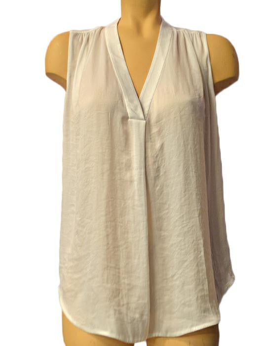 Shirred Shoulder Top - OPTWHT