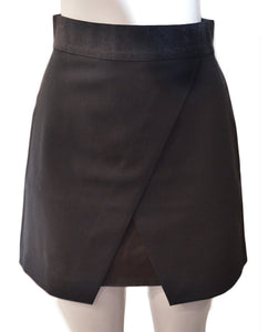 Ericka Overlap Mini Skirt - BLACK