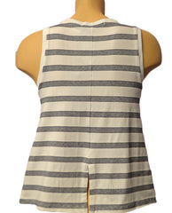 Striped Doe Tank - NAVYWHT